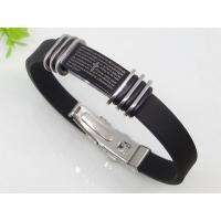 Quality Personalized Black Rubber Silicon Bracelets 1750012 for sale
