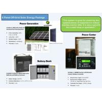 LCD Display Domestic Solar Power Systems With AC / DC Circuit Breakers Manufactures