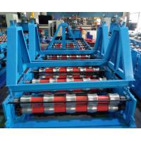 Glazed Roof Panel Roll Forming Machine , Cold Forming Machine Panasonic PLC Control Manufactures