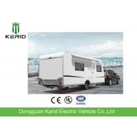 EPA Standard Camper Caravan Trailer With Rear Cooking Cabin Refrigerator Manufactures