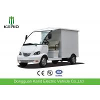 4kW DC Motor Driven Battery Powered Carry Van With Enclosed Cargo Box Manufactures