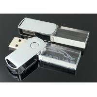 Quality Crystal USB Flash Drive Classical Swivel, Real Capacity USB 2.0 Memory Stick for sale