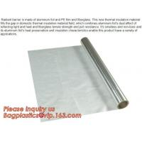 China Aluminium laminated foil woven cloth vapor barrier lowes thermal insulation,foil fiberglass cloth,roof sarking,EPE,XPE on sale
