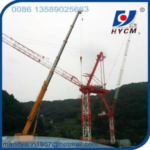 QTD5520 Luffing Jib Tower Crane 18 ton 55m Jib Crane with Crane Cabin Manufactures