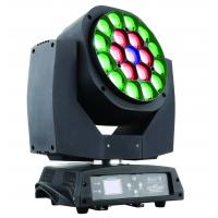 Rgbw 19 *1 5W LED Moving Head Light Rotation With Zoom Angle 4 to 60 degree Manufactures