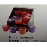 FBAB0024 mini plain color PP plastic snack storage box for peanut jam Manufactures
