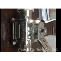 3A ASME BPE Stainless Steel Sanitary Valves , Ss Butterfly Valves Beautiful Design Manufactures