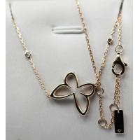 Quality Mirror Copy Messika 18K Rose Gold with natural diamonds butterfly necklace KGN000470 for sale