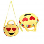 plush emoji wallet, mini coin purse,custom emoji plush soft embroidered emoji wallet handbag Manufactures