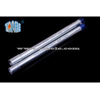 Galvanized Steel BS4568 Conduit / BS4568 TUBE / GI PIPE With Protection Cap Manufactures