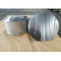 Cookware Aluminum Sheet Circle Silver With Pre Painted Non - Stick Black Coating Manufactures