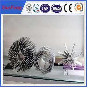 Quality industrial al6063 t5 aluminum extrusion heatsink profiles cooling fin manufactur for sale
