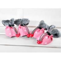 Christmas OEM Cute PET PU Dog Shoes FOR winter , S M XL dog running shoes Manufactures