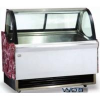 1200mm Ice Cream Showcase Freezer Tempered Glass With Transparent Conducting