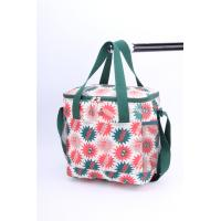 Ladies Wine Polyester Cooler Bag Folding Insulation Lining Heat Transfer Printing Manufactures