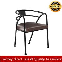 China Loft/Rustic metal arm chair for restaurant and bar metal leather arm chair hot sale modern metal arm chair on sale