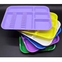 High Quality Good Price Autoclavable plastic dental partition tray with different colors Manufactures