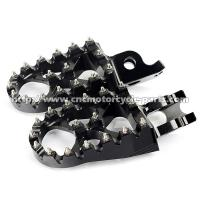 China Anodized Color Dirt Bike Foot Pegs High Resistance Stainless Steel Teeth on sale