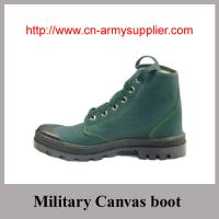 Wholesale Cheap China Army Troop Military Training Canvas Boots Manufactures