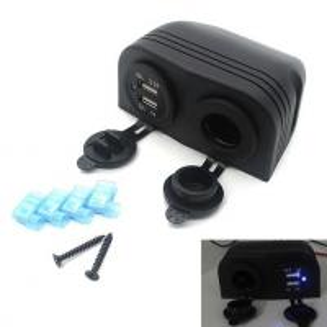 12 V Usb Car Charger Adapter Outlet For Cigarette Lighter Socket Splitter Manufactures
