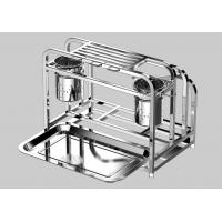 Removable Hook Kitchen Utensil Rack Space Saving With Chopstick Holder Pot Lid Rack Manufactures