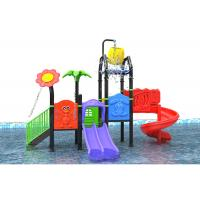 China Water Theme LLDPE Toddler Outdoor Water Playground With Golden Flower on sale