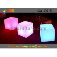 PE Square LED Bar Stools With Wireless Remote Control / Nontoxic And Peculiar Smell Manufactures
