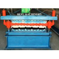 Double Layer Color Coated Roofing Sheet Steel Profile Roll Forming Machine Manufactures