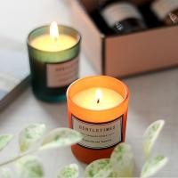 Christmas Luxury Packaging Home Scented Candles Colorful Glass Candle Jar Manufactures