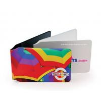 Customized Full Color Plastic Card Holder Artificial Leather Card Wallet Manufactures