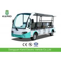 4 Wheel Electric Sightseeing Car , 11 Seats Electric Passenger Vehicle With Sun Curtain Manufactures