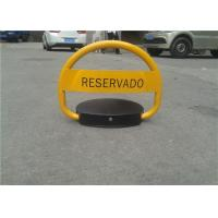 Waterproof Yellow Automatic Parking Lock With Smart Remote Control System Manufactures