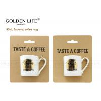 Eco - Friendly Personalized Coffee Mugs Espresso Cup With Kraft Card Package Manufactures