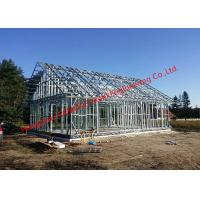 Galvanized H - Beam Steel Structure Framing Systems For Workshop Or Villa House Manufactures