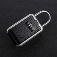 Auto Key Safe Car Lock Box For Keys 4 Digit Combination Aluminum Alloy Frame Manufactures