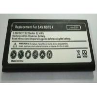 Replacement mobile phone battery for Samsung Galaxy Note 4  3.85V 3220MAH Manufactures