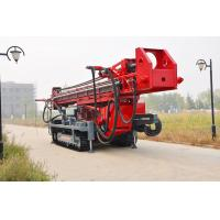 The maximum hole depth1500m  DTH RC Top Drive Rig Water Well Drilling Rig With Crawler Mounted Manufactures