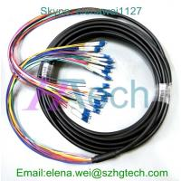China 10Meter Singlemode LC/LC 12Core Outdoor Fiber Optic Patch Cable on sale