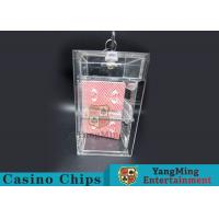 Buy cheap Transparent Security Casino Card Holder With Laser Engraving Craftsmanship from wholesalers