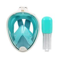 Free Breathing Diving Full Face Mask , SEA Vision Snorkel Underwater Face Mask Manufactures
