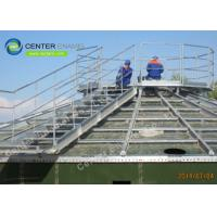 200000 Gallons Glass Lined Steel Leachate Storage Tanks With Aluminum Alloy Trough Deck Roofs Manufactures