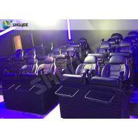 SGS Certification 5D Cinema Movies Theater 3 Seat Black Motion Chairs Genuine Leather Manufactures