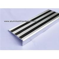 Replaceable Aluminum Non Slip Stair Treads Anodized Shiny Silver Manufactures