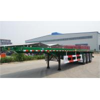 Flat-bed Semi Trailer Truck 3 Axles 30-60Tons 13m for Container Loading Manufactures