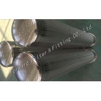 Stainless Steel Spiral Perforated Metal Tube / Filter Basket / Filter bag Manufactures