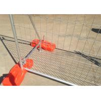 Construction Site Fence panels as4687-2007 standard 2100mm x 2400mm QLD brisbane OD 32mm x 1.40mm,1300 temp  fence Manufactures