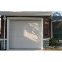 Electric Automatic Overhead Garage Doors White Wood Grain For Villa Manufactures