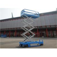 Extendable Rough Terrain Scissor Lift Sturdy Heavy Base User Friendly For Tight