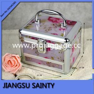 China Flower printing acrylic plastic makeup box on sale