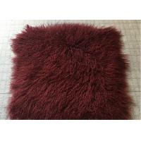 Bed Throw Blanket Mongolian Sheepskin Rug Warm Soft With Raw / Dyed Color Manufactures